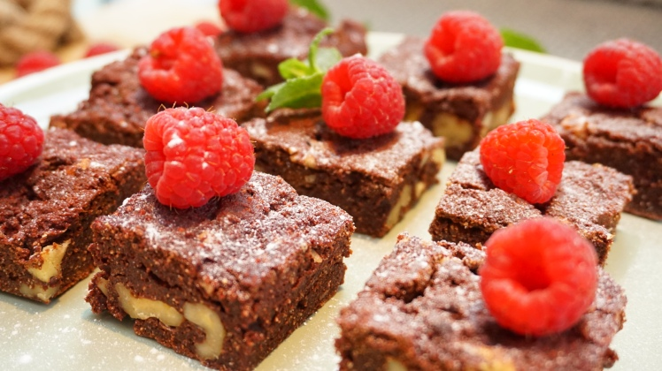 Savory Beetroot Brownies