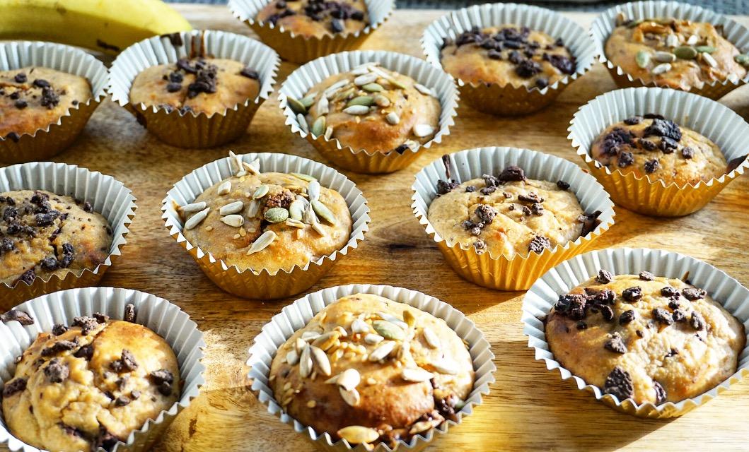 Banana & Oat Savory Breakfast Muffins